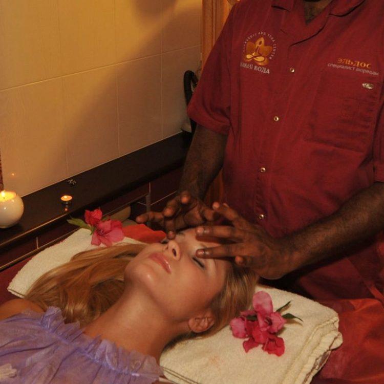 Аюрведический массаж лица / Ayurvedic face massage